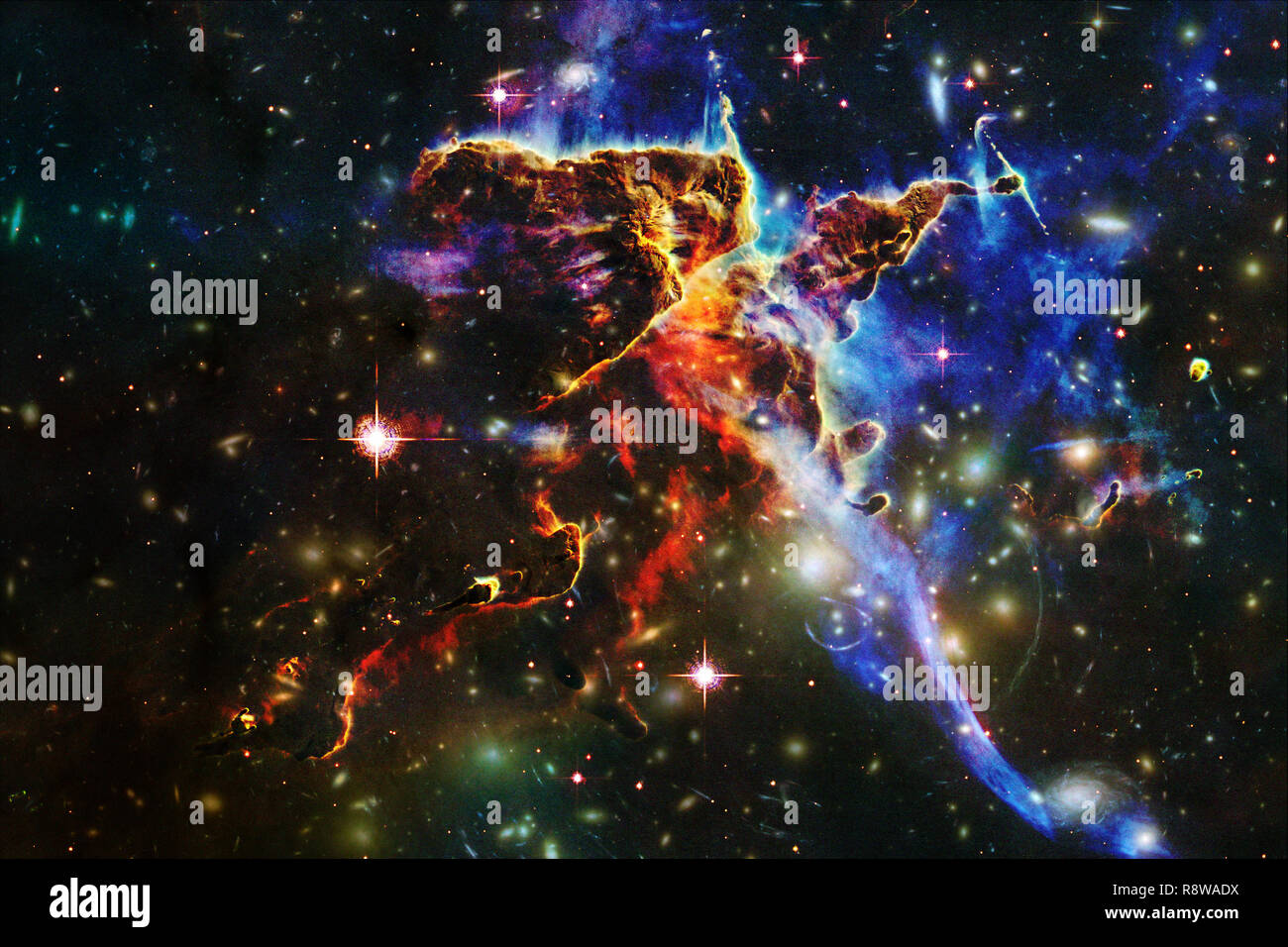 universe filled stars nebula and galaxy cosmic art science fiction wallpaper elements of this image furnished by nasa R8WADX