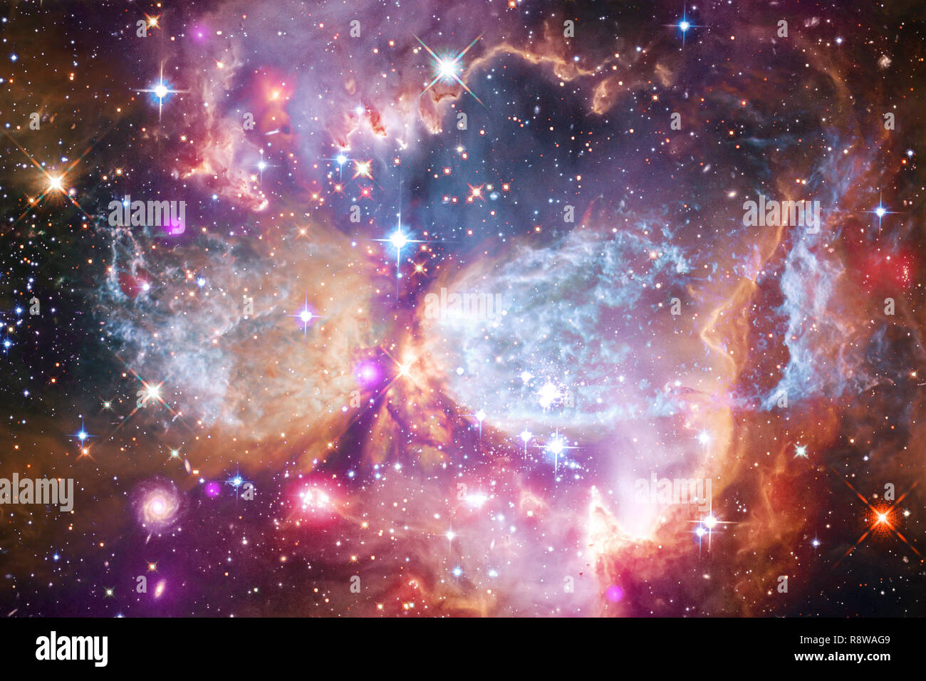 Nebulae an interstellar cloud of star dust. Elements of this image furnished by NASA - Stock Image