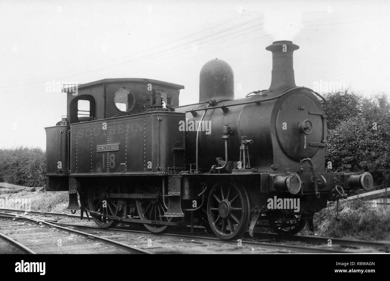 Isle of Wight Railway 2-4-0T no.18 as Southern Railway W18 Bonchurch - Stock Image