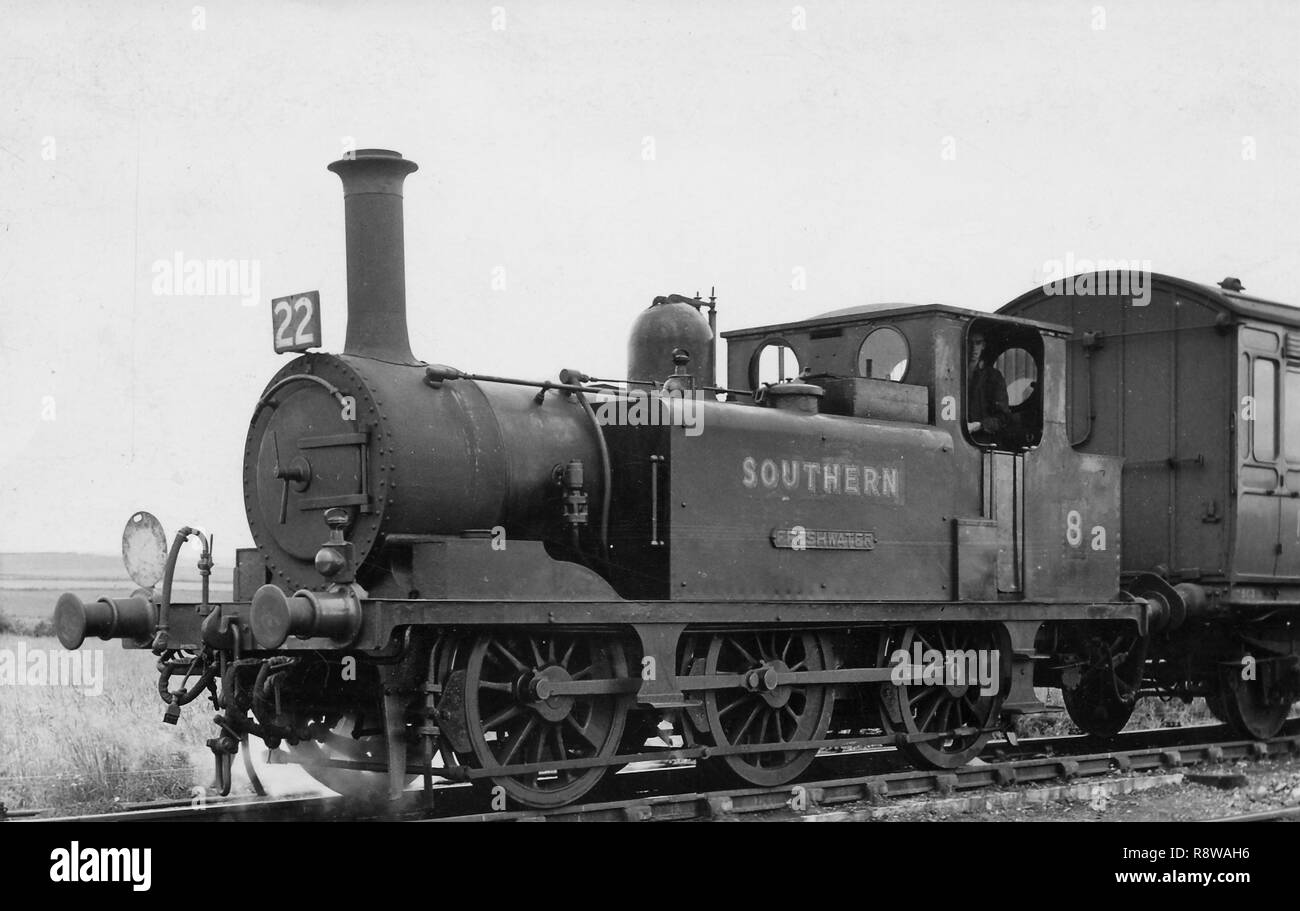 Former LBSCR A1x class 0-6-0T as Southern Railway No.11 Newport on the Isle of Wight Stock Photo