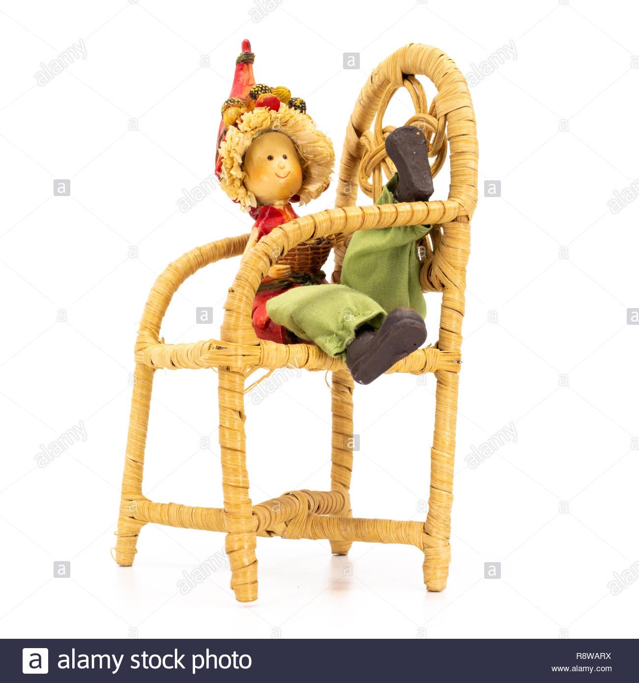 Sitting In Basket Chair Stock Photos Amp Sitting In Basket