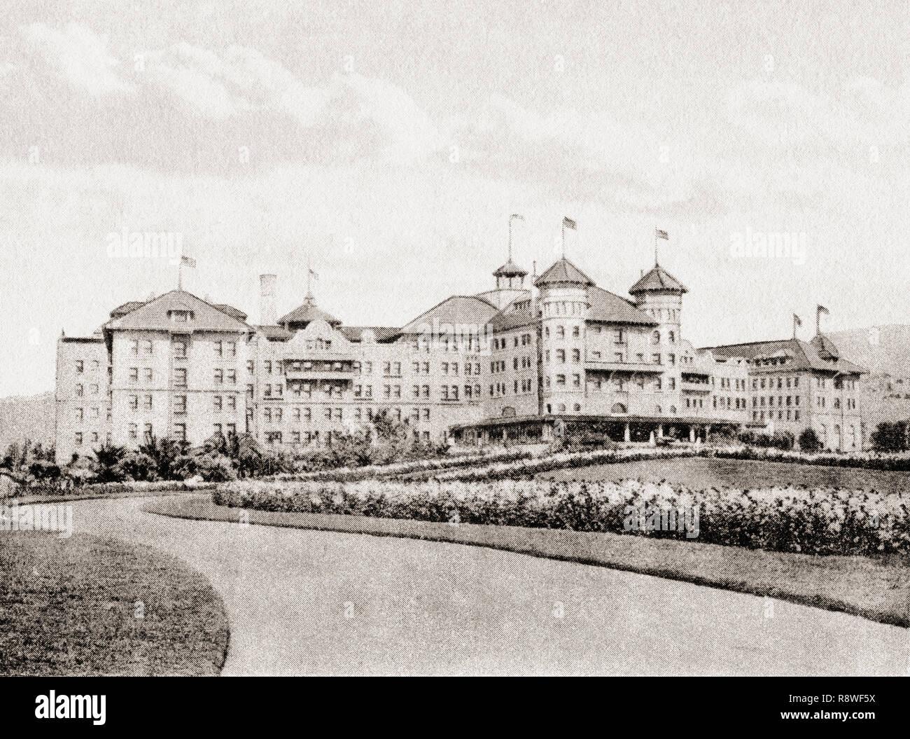 The Potter Hotel, Santa Barbara, California, United States of America, c. 1915.  From Wonderful California, published 1915. - Stock Image