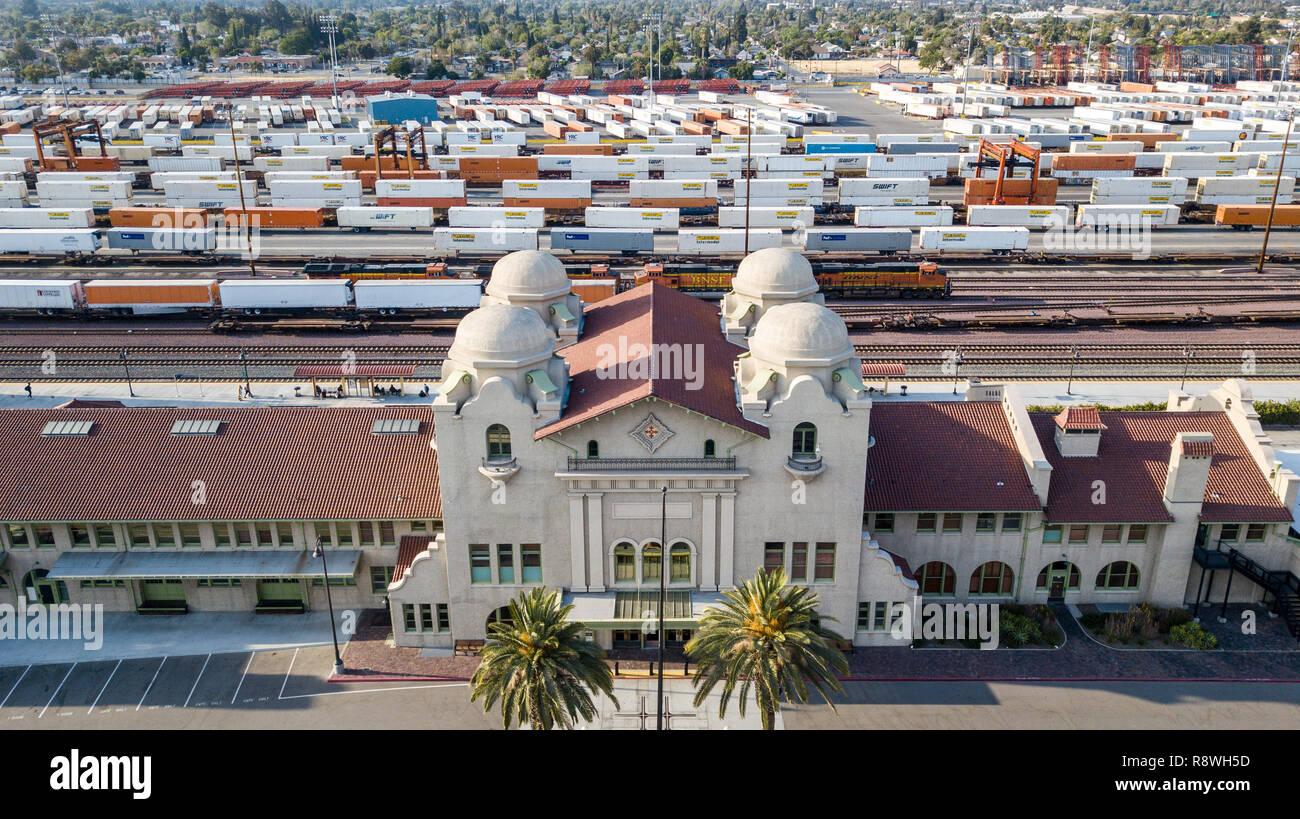 San Bernardino Santa Fe Depot Or San Bernardino Station San Bernadion Ca Usa Stock Photo Alamy