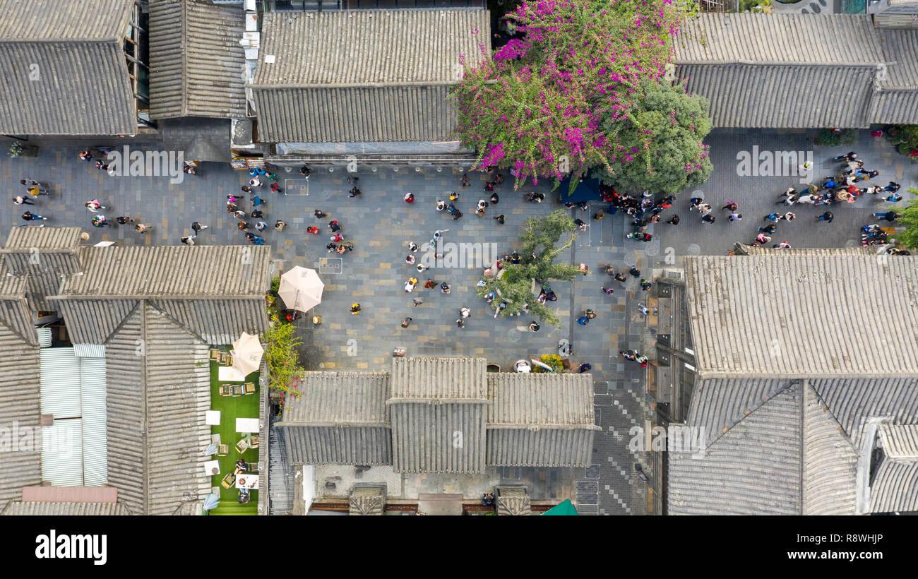 Kuanzhai Alley, Kuan Alley and Zhai Alley, Chengdu, Sichuan Province, China Stock Photo