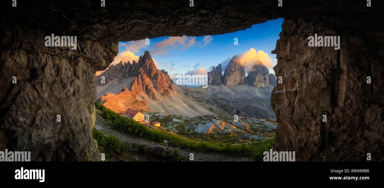 Tre Cime Di Lavaredo, Italy - Stock Image