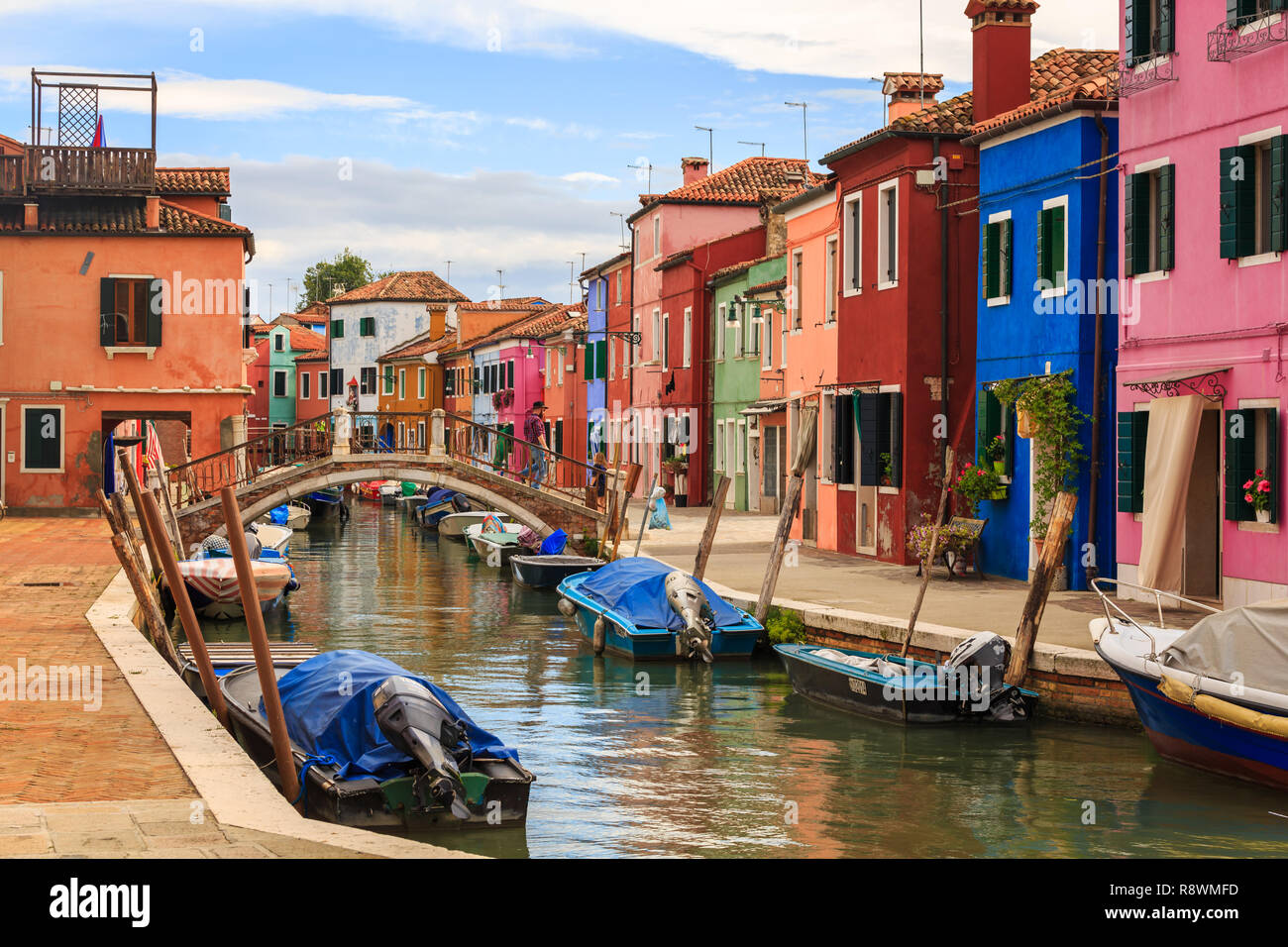 Burano, Venice, Italy - Stock Image