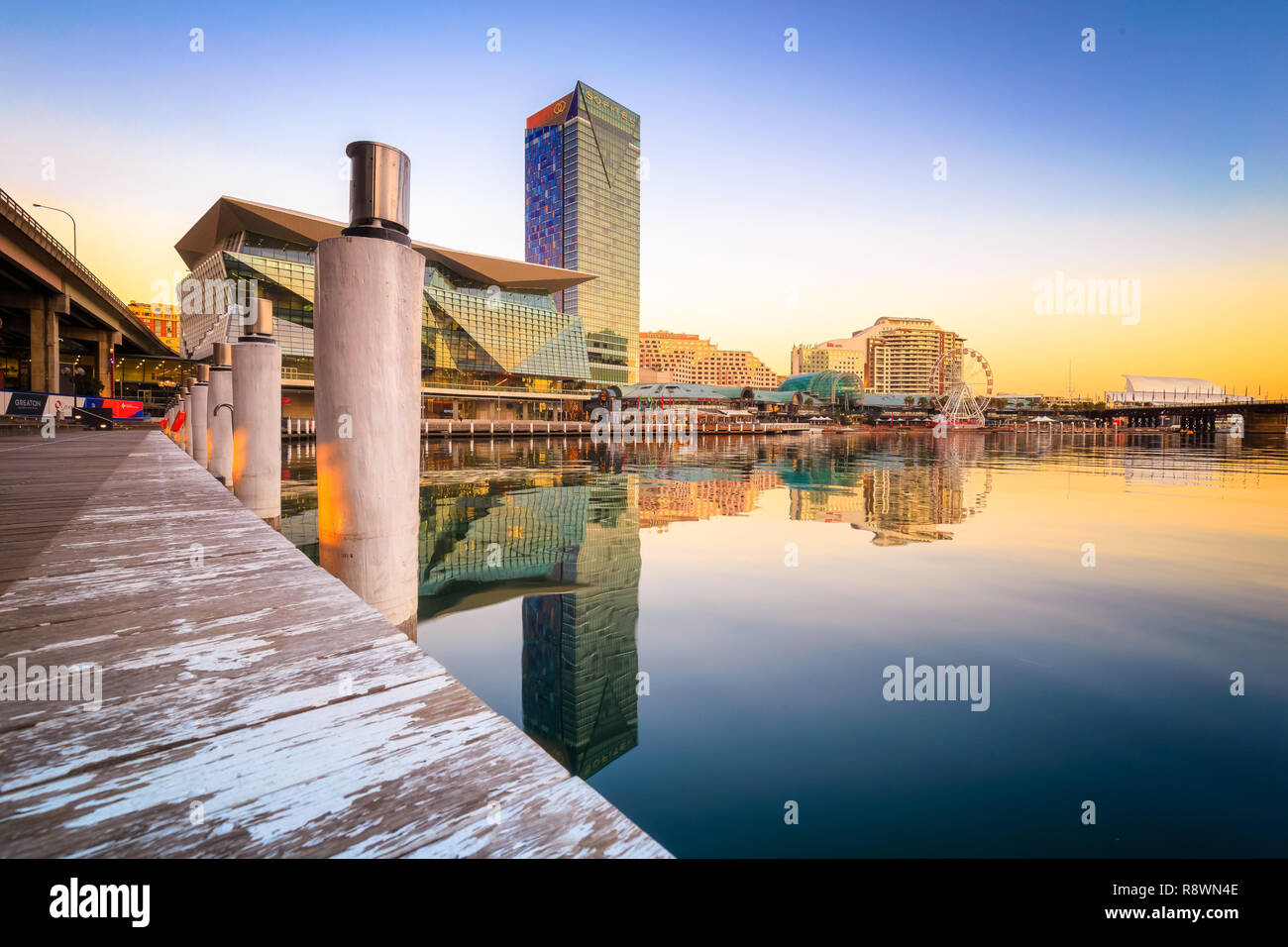 Darling Harbour reflection - Stock Image
