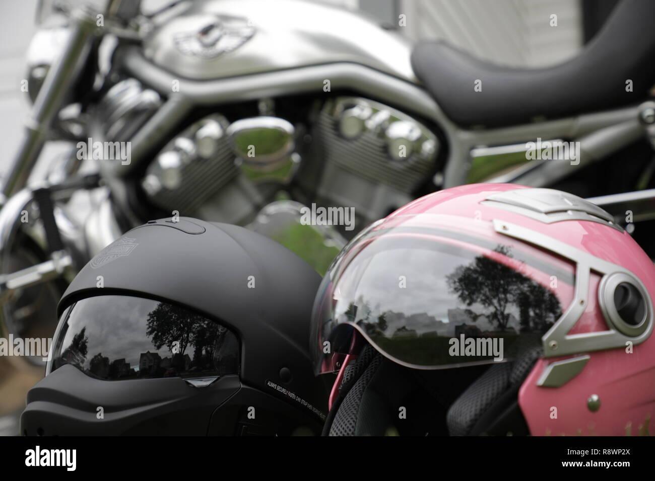 V-Rod Motorcycle 100 year Anniversary - Stock Image