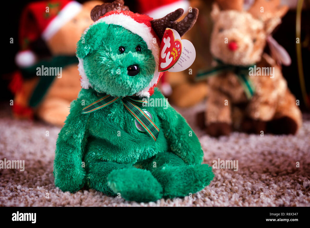 2002 Holiday Teddy. One of Ty Company s annual holiday Beanie Babies in a  family Christmas 874d1c89dda8