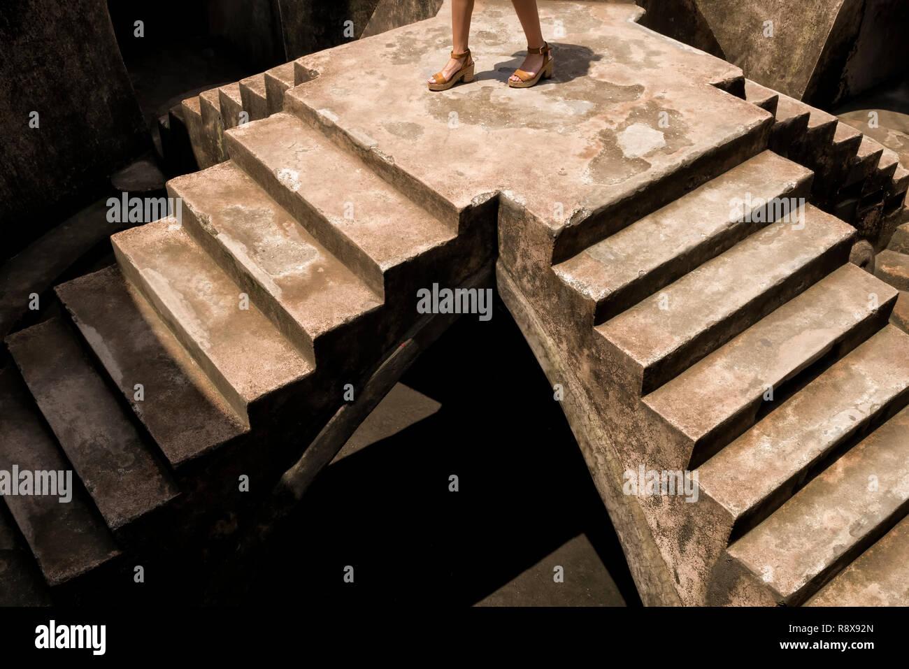 Sumur Gumuling stairways and catacombs, part of Taman Sari Complex in Yogyakarta Stock Photo
