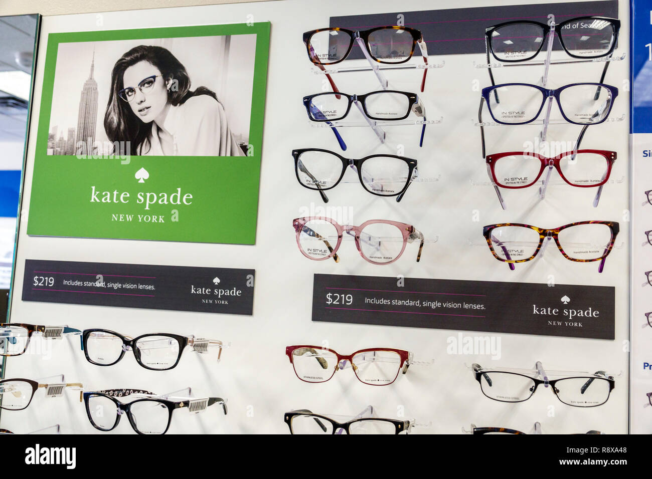 f03f6bd1d4 Miami Beach Florida optician optometrist business store eyeglasses display  sale fashion Kate Spade New York frames