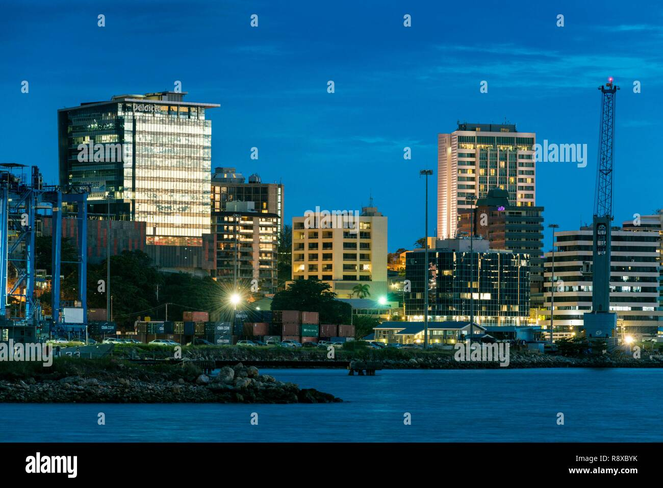 Papua New Guinea, National Capitale district, Port Moresby, town area, Paga Hill - Stock Image