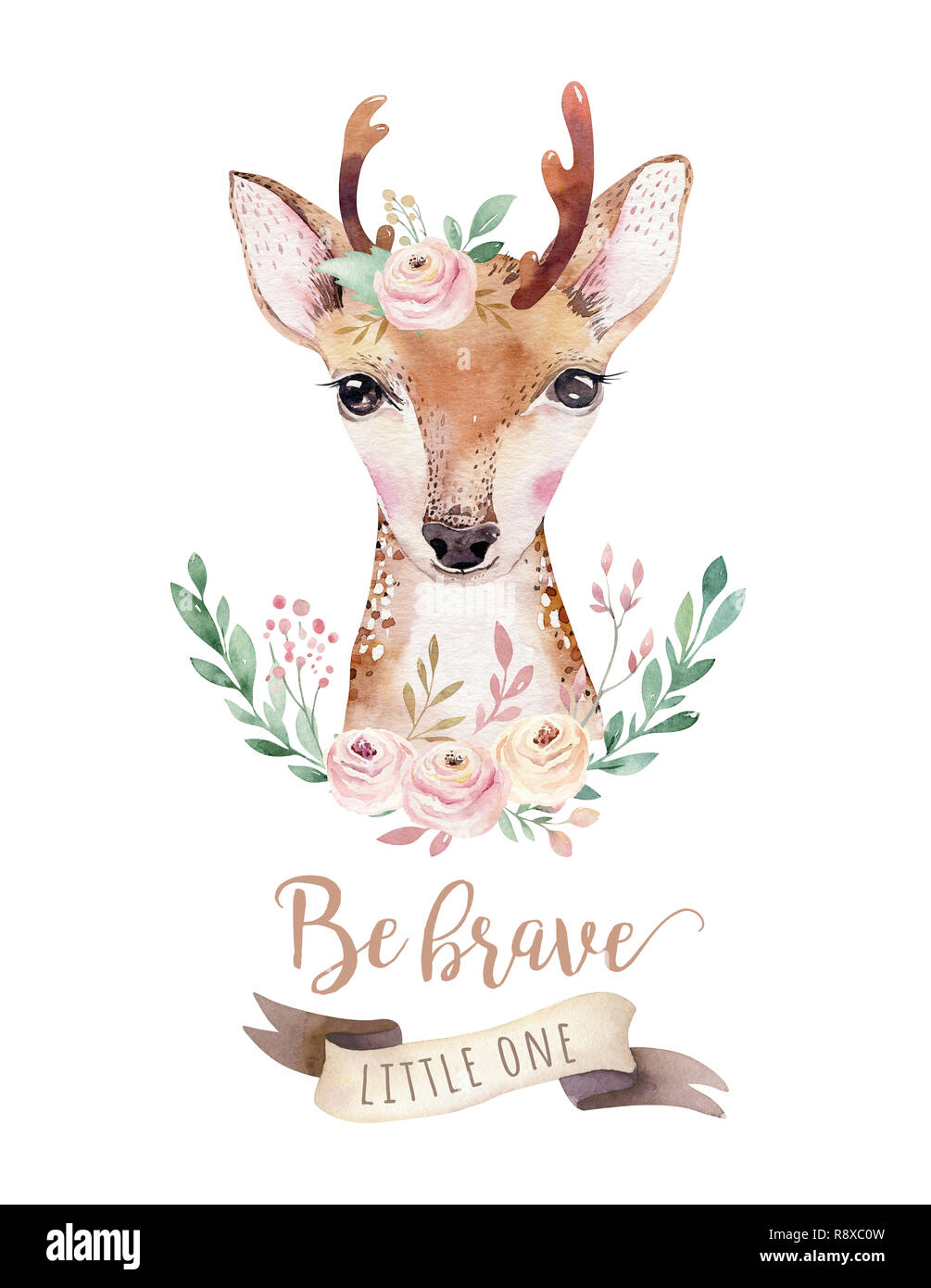 watercolor forest cartoon isolated cute baby deer animal with flowers nursery woodland illustration bohemian boho drawing for nursery poster patter stock photo alamy https www alamy com watercolor forest cartoon isolated cute baby deer animal with flowers nursery woodland illustration bohemian boho drawing for nursery poster patter image229232217 html