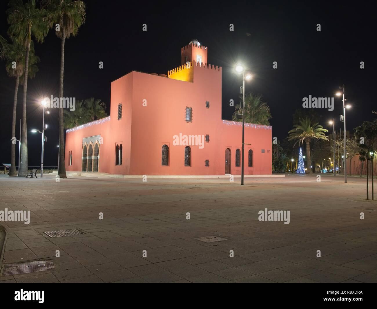 The Bil Bil Castle, Arabic-style building, 1927, Benalmadena, Andalusia, Southern Spain. - Stock Image