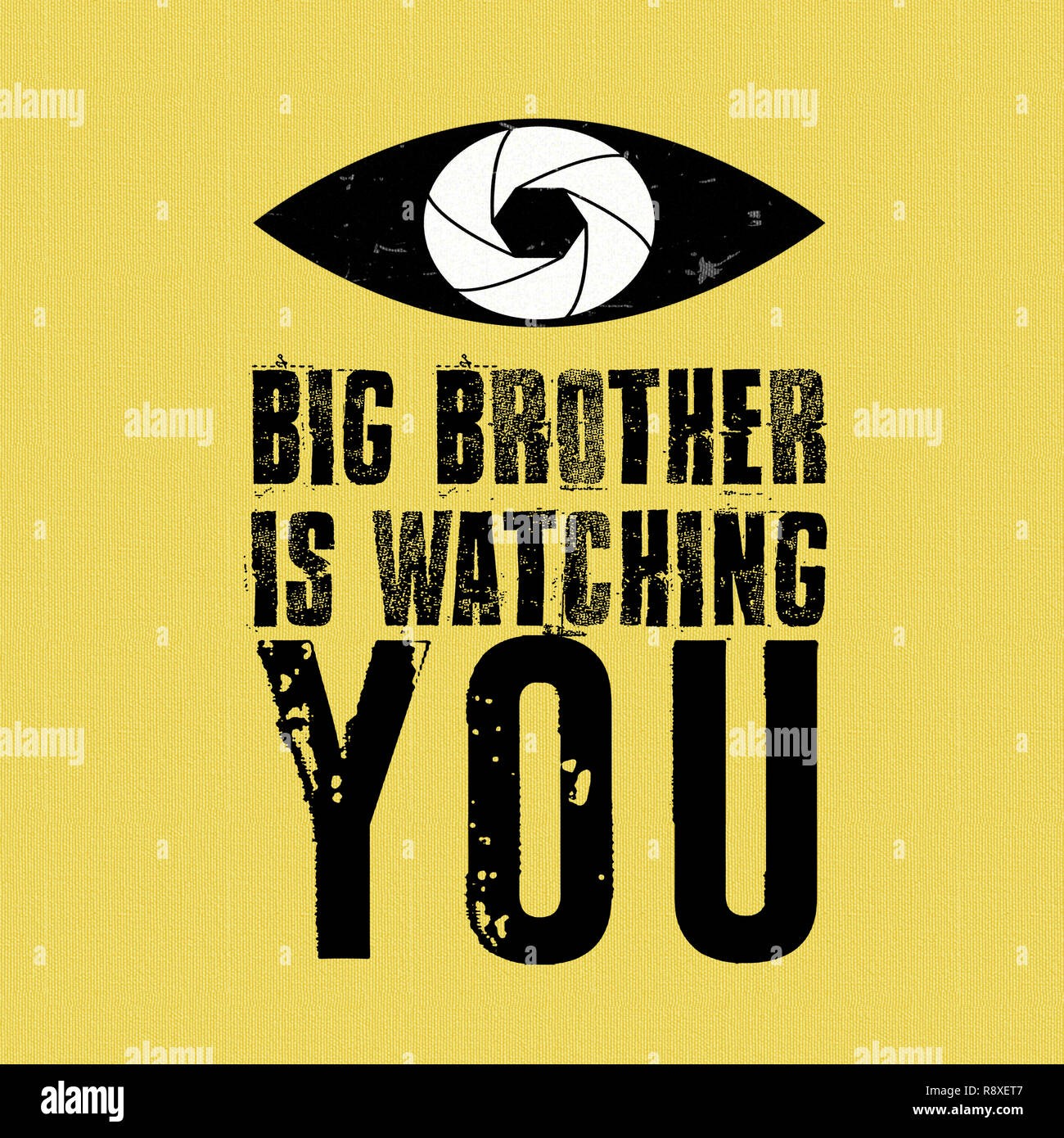 Big Brother is Watching YOU! - Stock Image