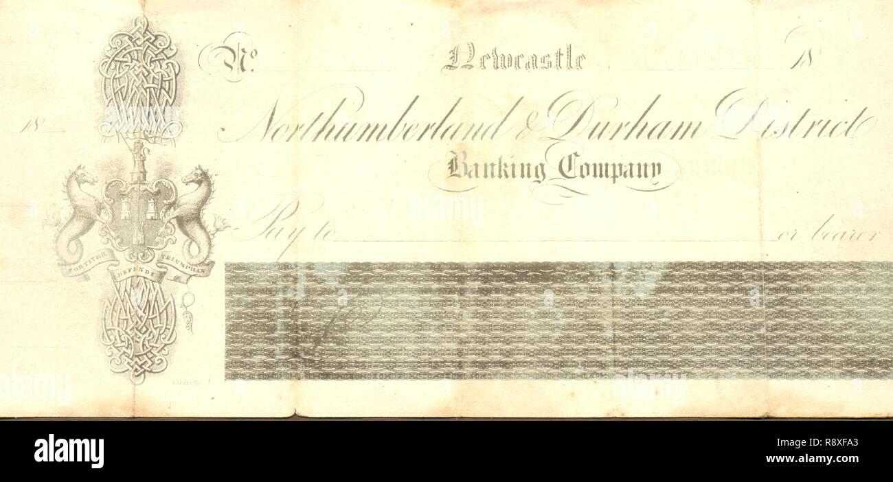 Victorian Money Cheque Banking Stock Photos & Victorian