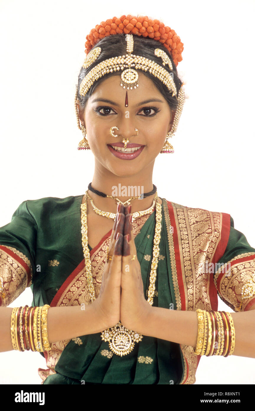 Bharatnatyam, woman performing classical dance of india