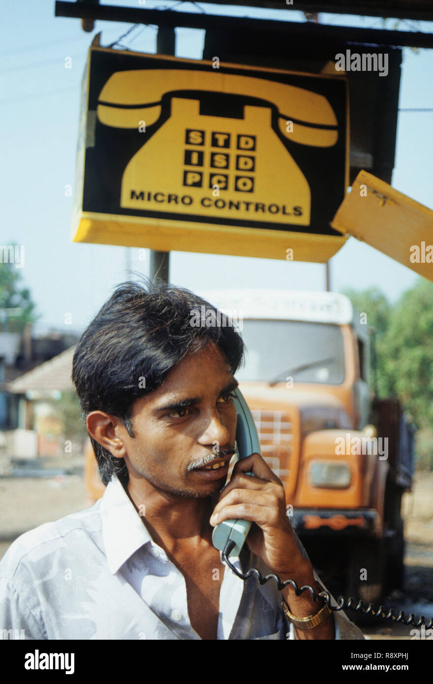 Indian phone booth - Stock Image