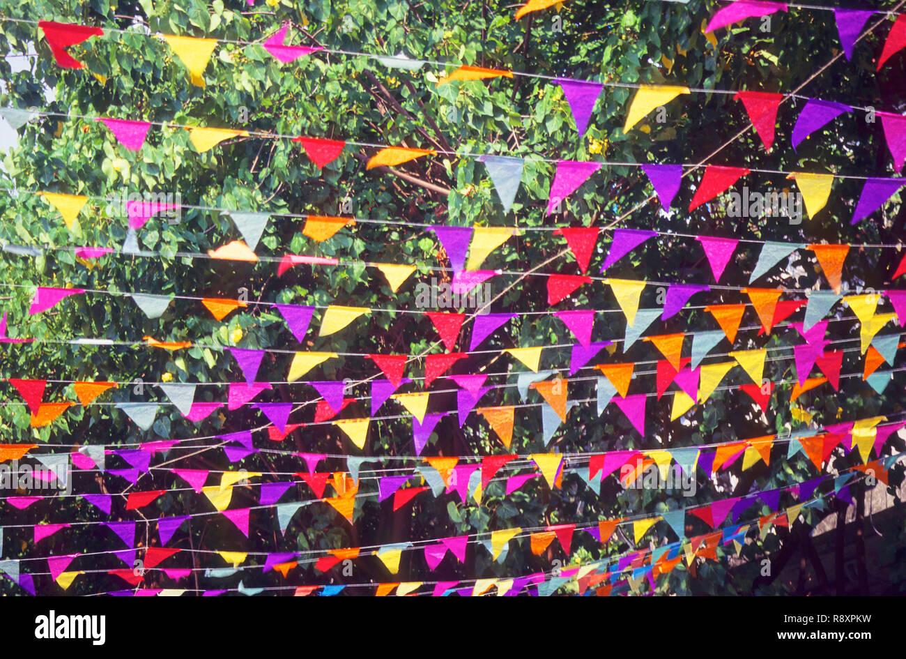 Colorful decoration - Stock Image