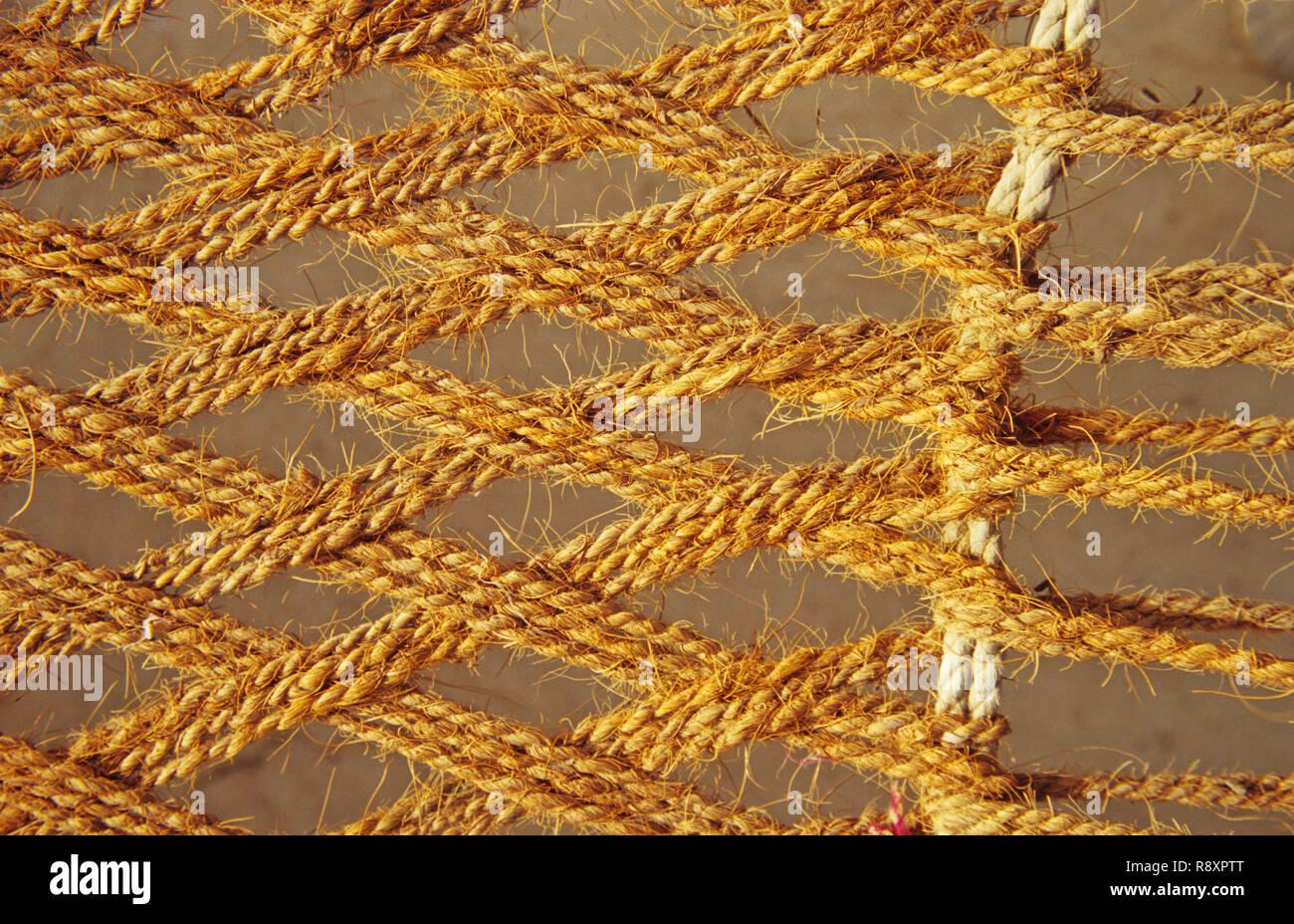 Handicrafts - Strings of Charpoy - Stock Image