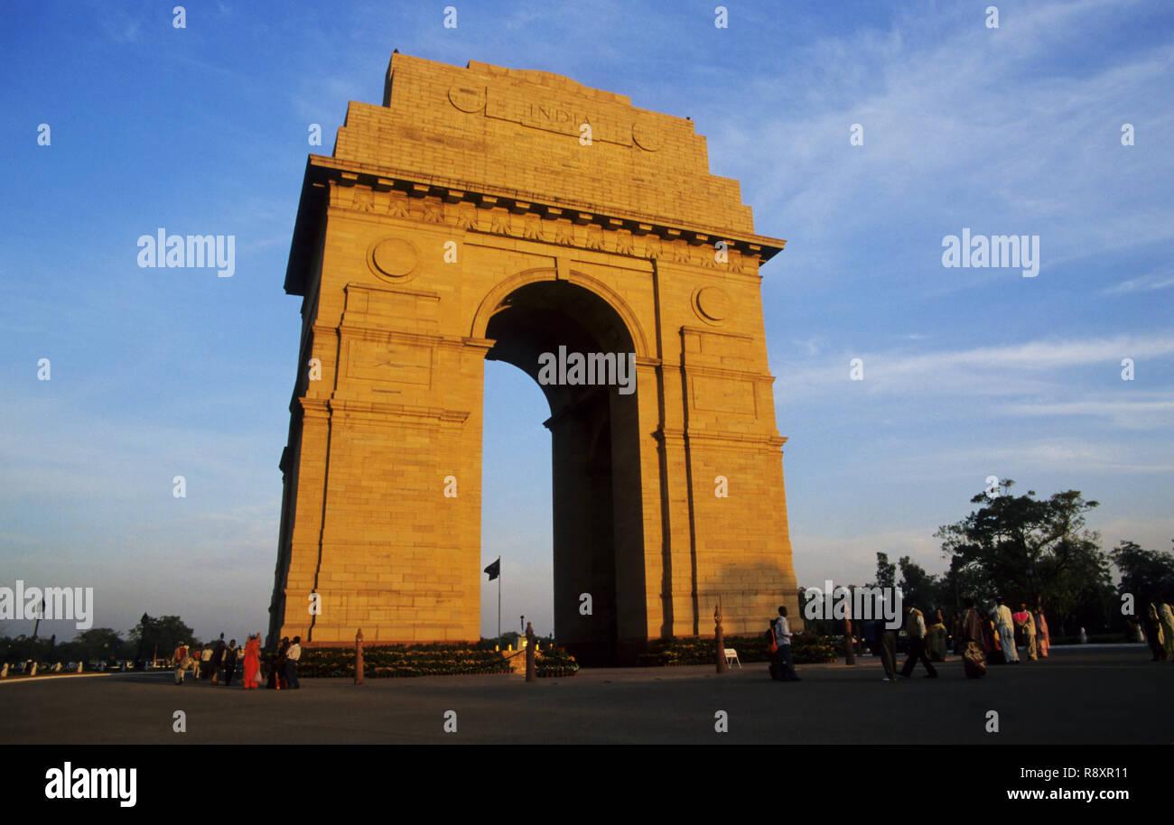 India Gate, New Delhi, India - Stock Image