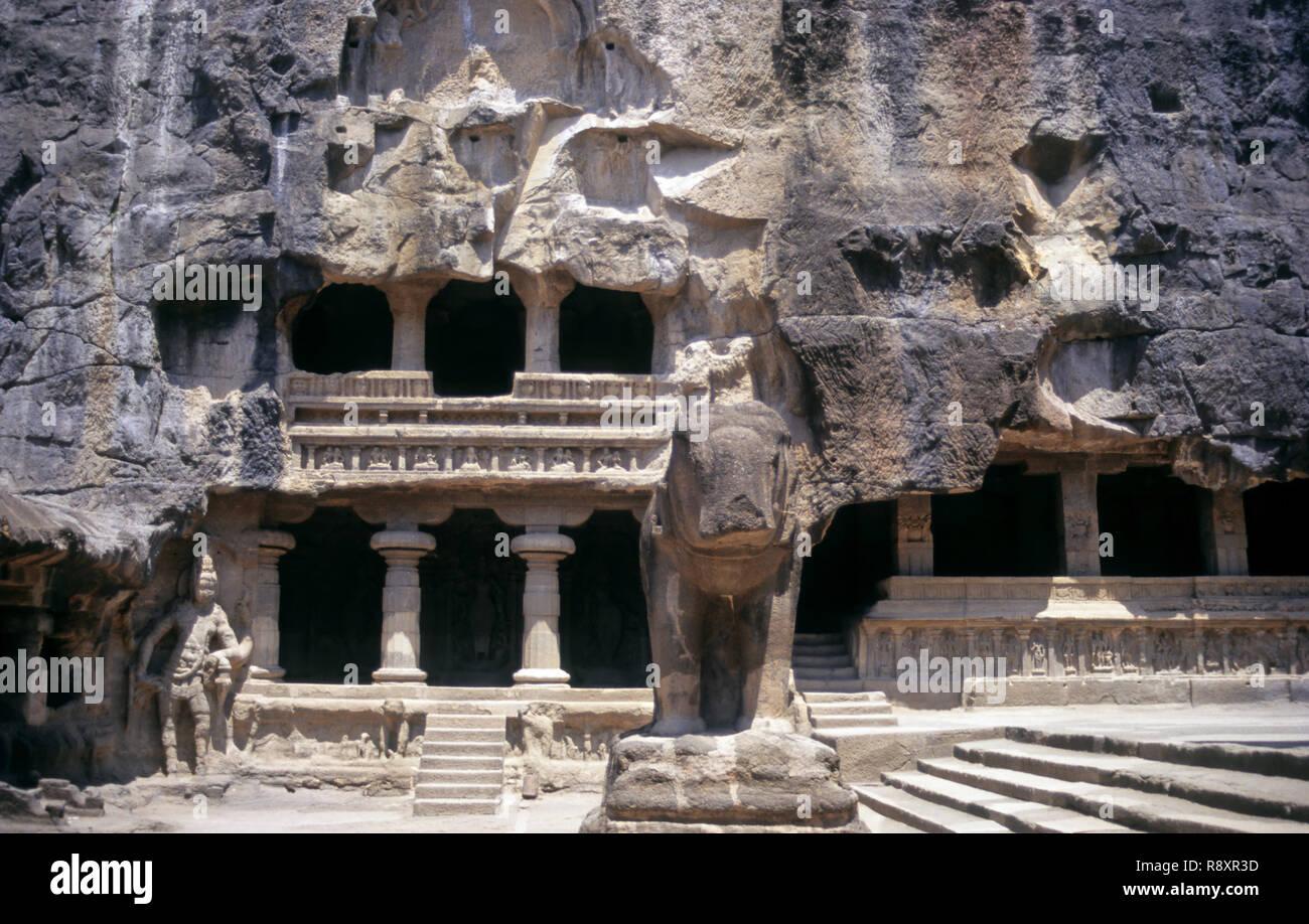Kailash Temple, Ellora, Aurangabad, Maharashtra, India - Stock Image