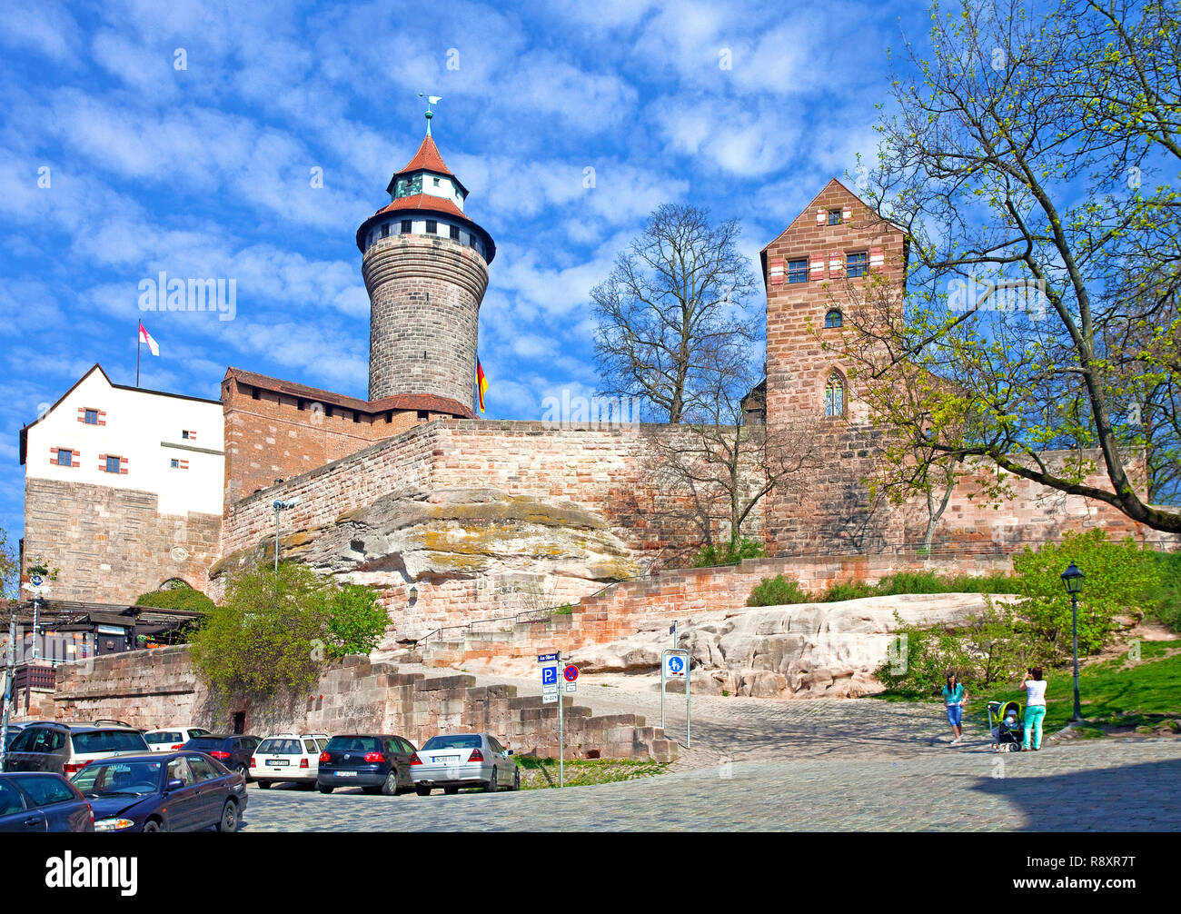 Imperial Castle, old town, Nuremberg, Franconia, Bavaria, Germany, Europe Stock Photo