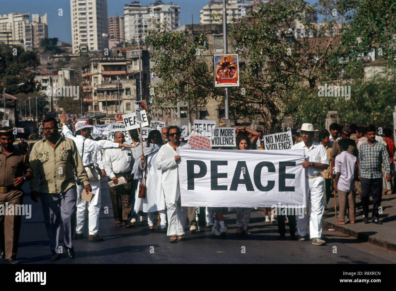 Peace March - Stock Image