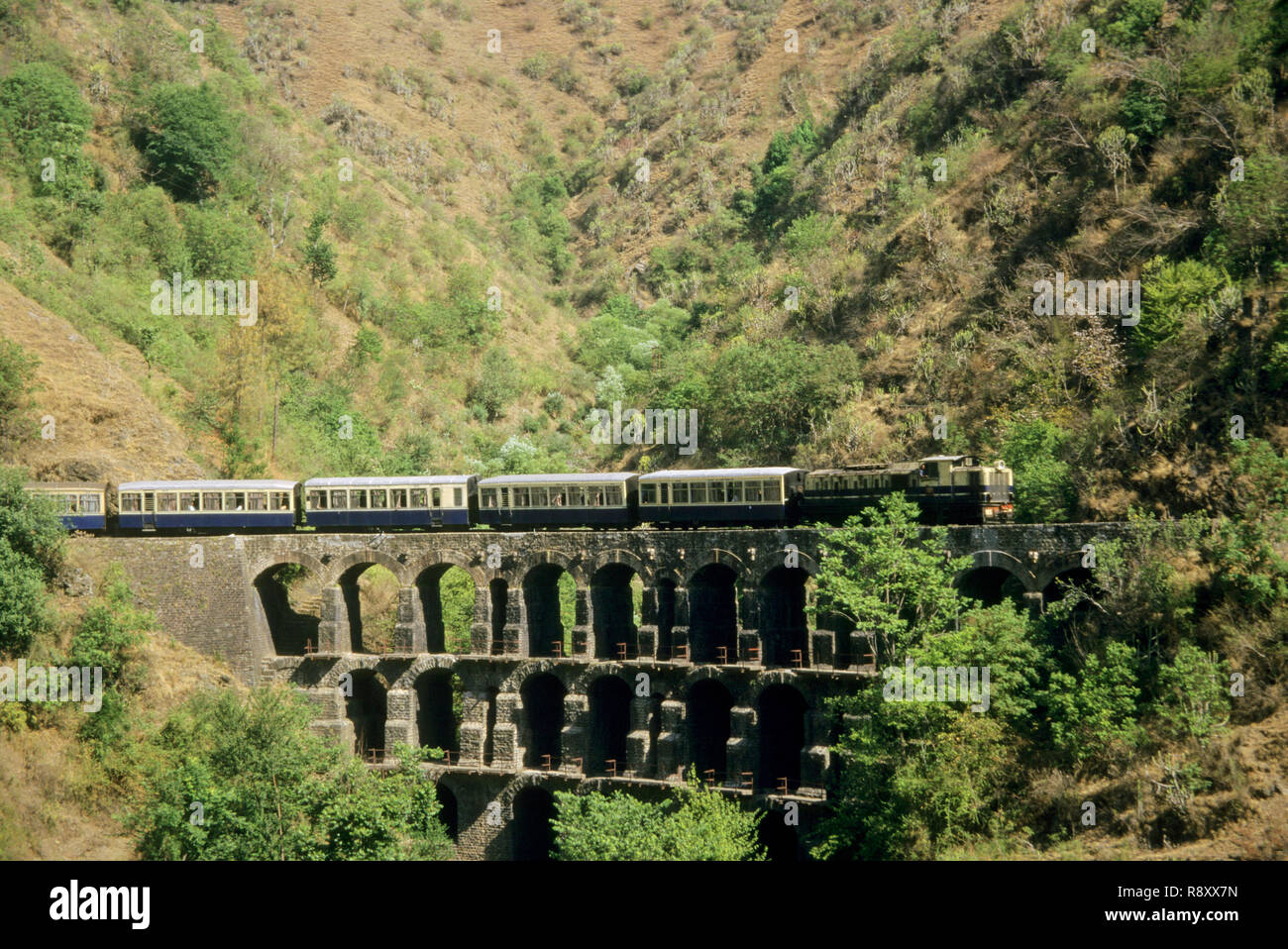 Trains Railways, kalka to shimla toy train, himachal pradesh, india - Stock Image