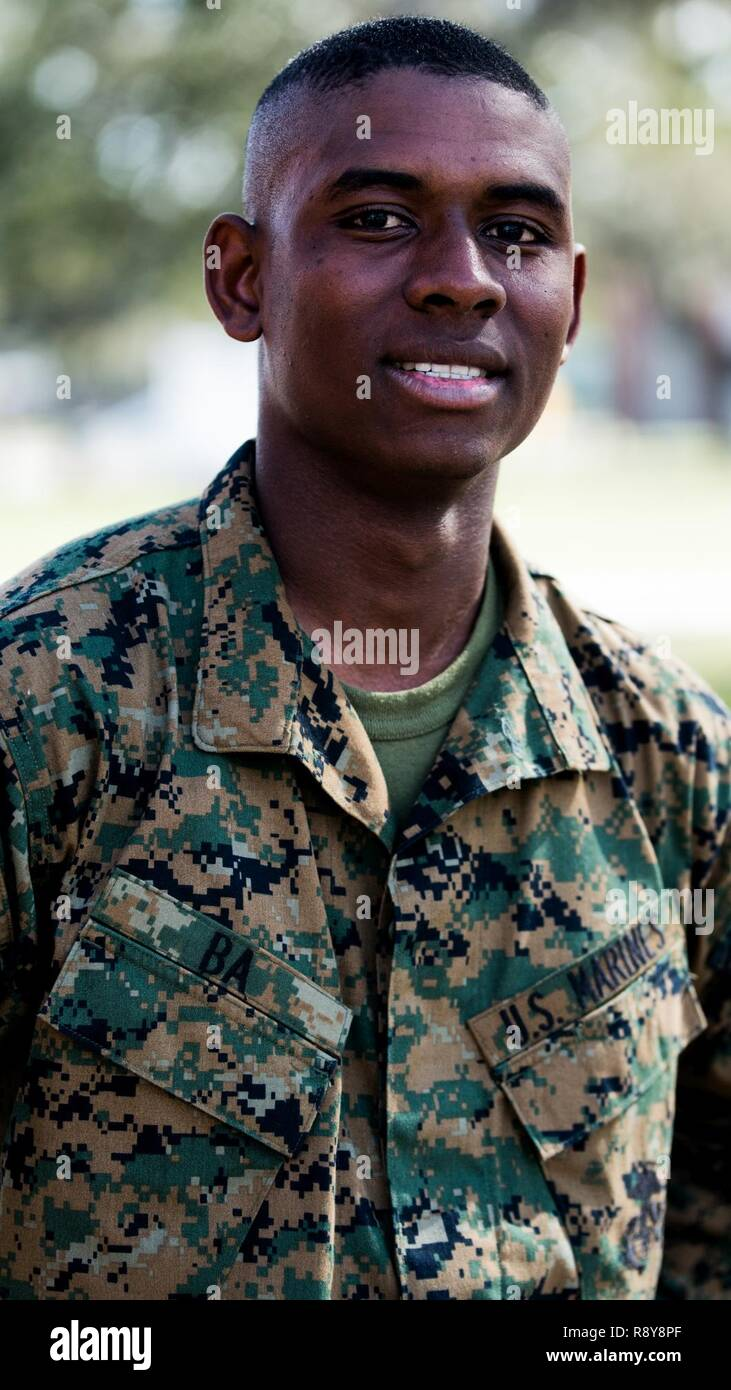 Parris Island Graduation Schedule 2020.Pvt Moussa Ba Platoon 2020 Hotel Company 2nd Recruit