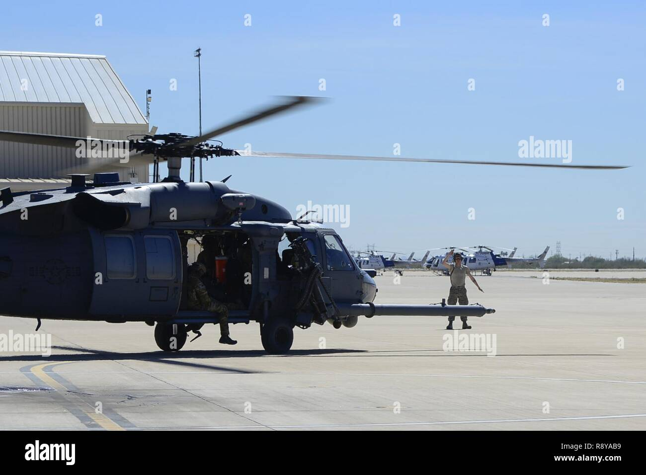 US Air Force Senior Airman Aaron Diver 55th Helicopter Maintenance Unit HH 60G