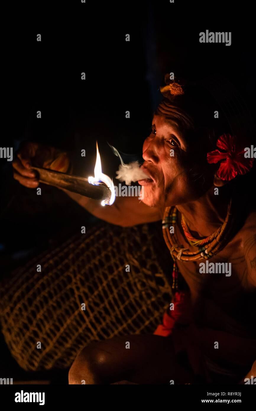 Indonesia, Sumatra area, Siberut Islan, Mentawaï tribe Shaman - Stock Image