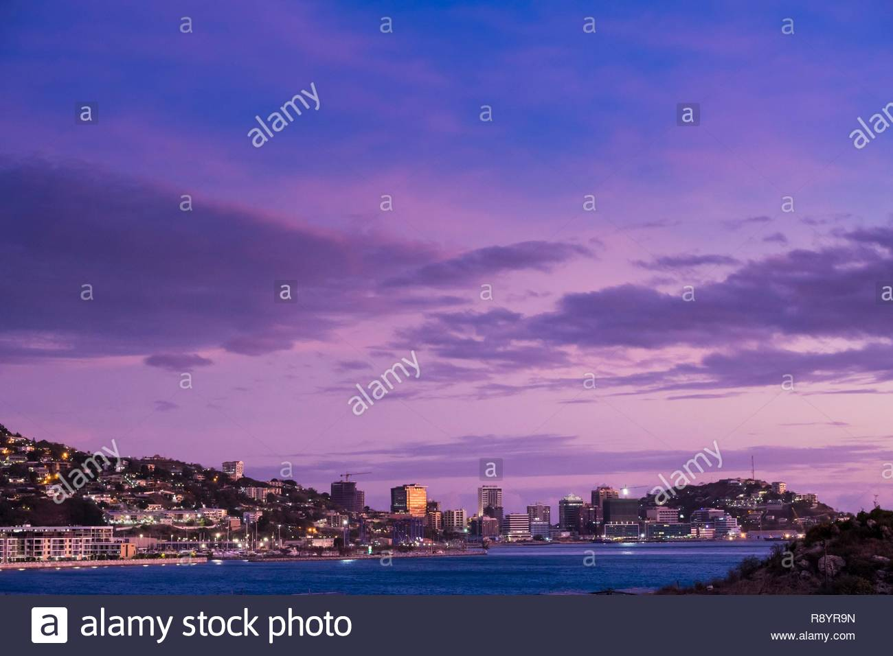 Papua-New-Guinea, National Capital District, Port Moresby, Port Moresby town - Stock Image