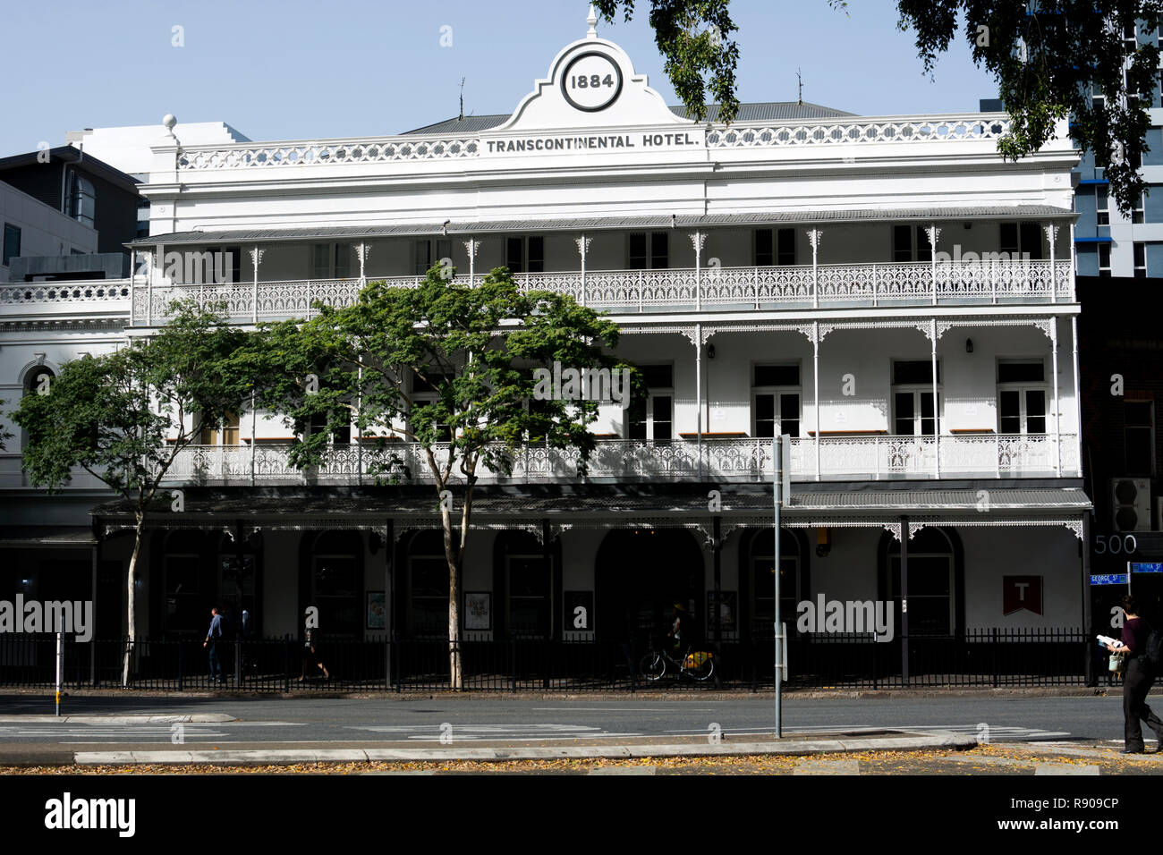 The Transcontinental Hotel, George Street, Brisbane, Queensland, Australia - Stock Image
