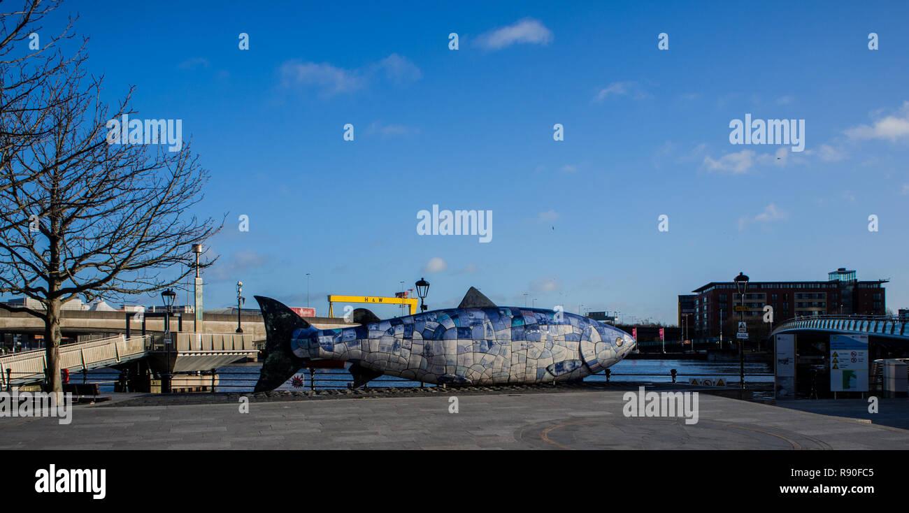 The Big Fish, Belfast - Stock Image