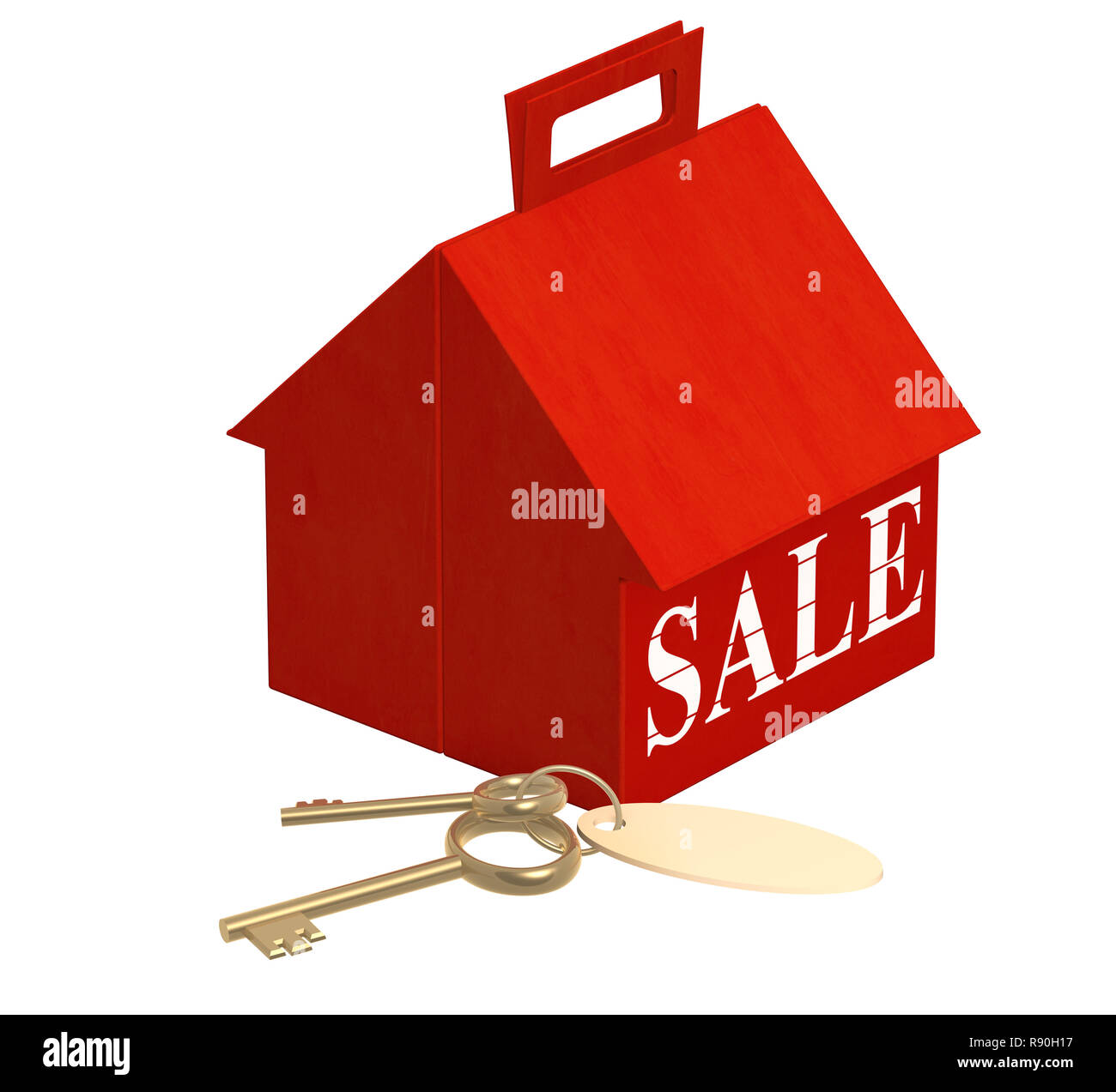 Conceptual image - house for sale - Stock Image