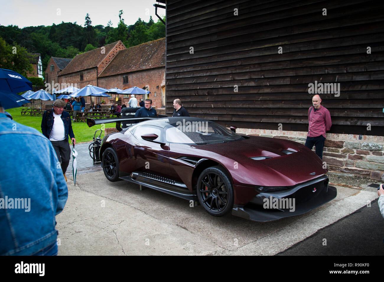 Aston Martin Vulcan at Shelsley Walsh Hill Climb - Stock Image