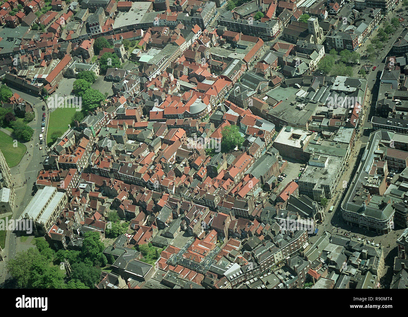 Aerial photo of the centre of the City of York - Stock Image