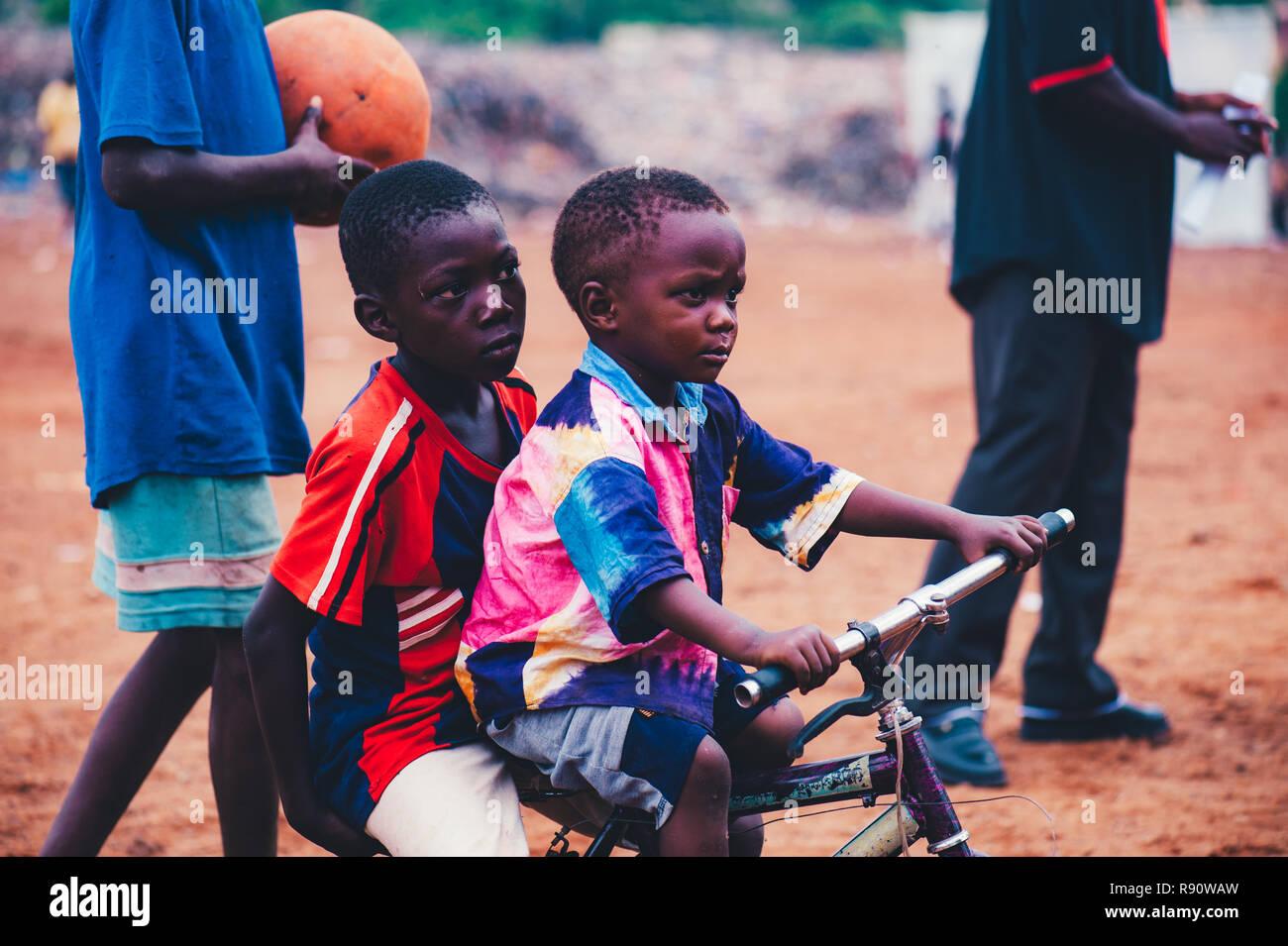 Mali Africa Black African Children Playing Soccer In A Rubbish Dump Rural Area Near Bamako Stock Photo Alamy