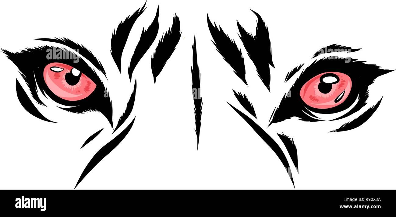 vector Tiger Eyes Mascot Graphic - Stock Vector