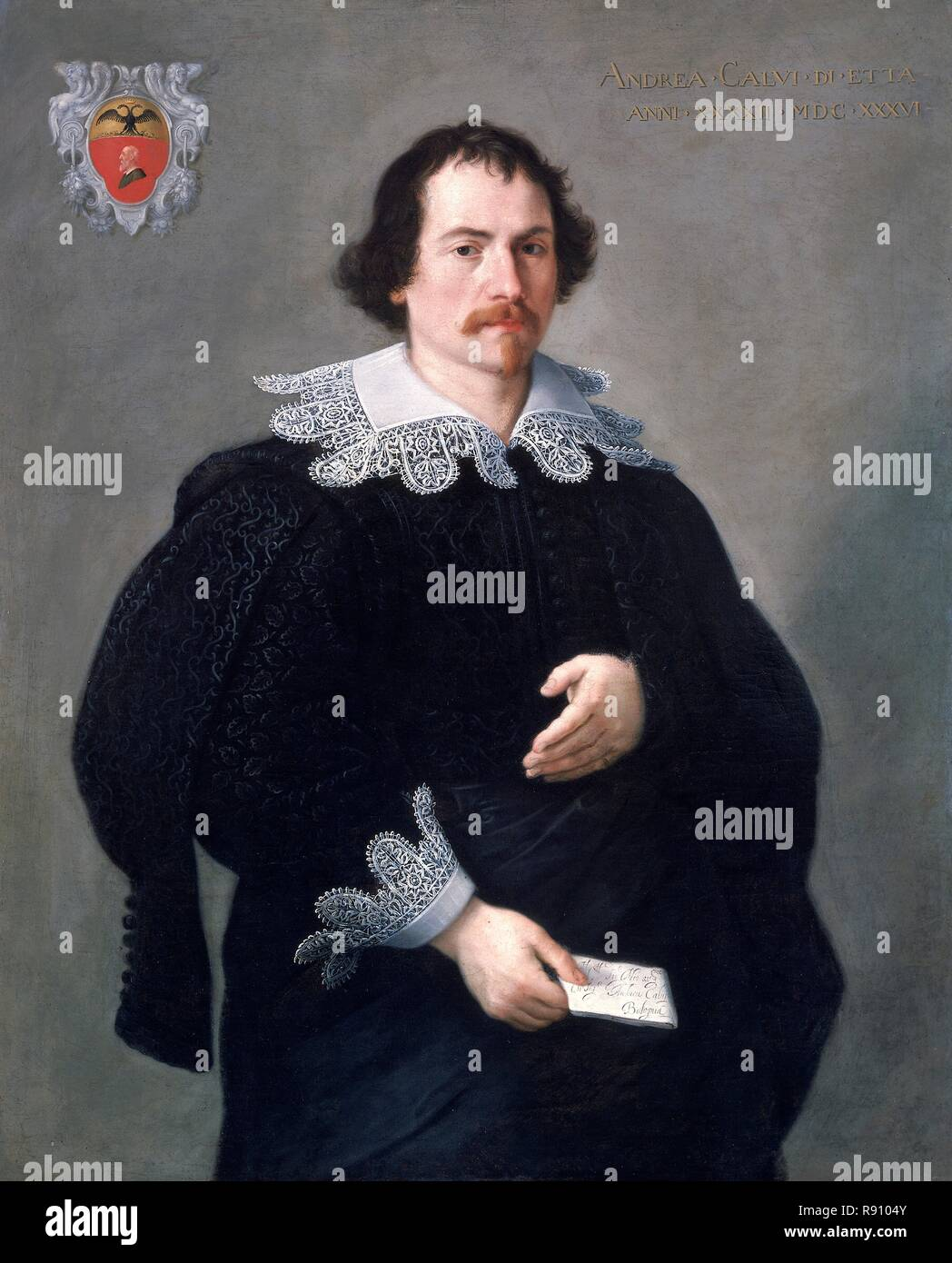 Andrea Albani andrea calvi (b.1590), 1636. creator: francesco albani stock