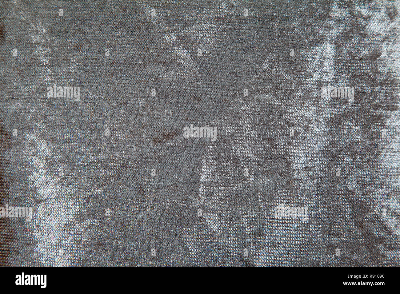 Gray Velvet Fabric Canvas For Upholstery Furniture Indoor Closeup