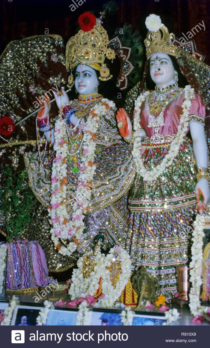 Statue of Radha Krishna - Stock Image