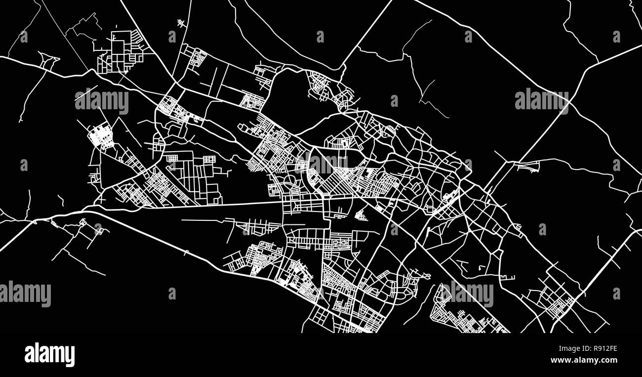 Urban Vector City Map Of Kanpur India Stock Vector Art