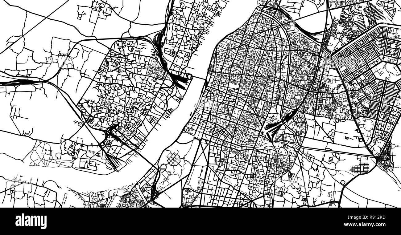 Urban vector city map of Kolkata, India Stock Vector