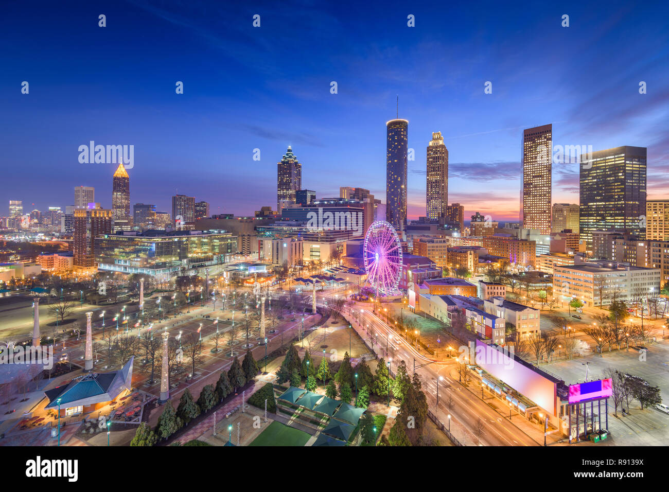 Atlanta, Georgia, USA downtown skyline at dawn. - Stock Image