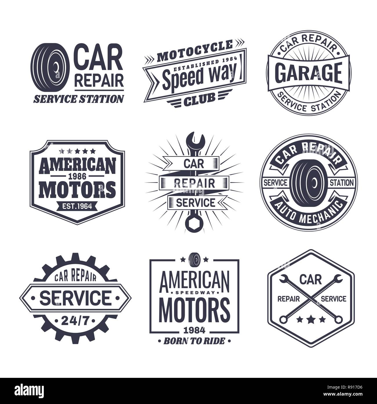 Logo for car repair service station - Stock Vector