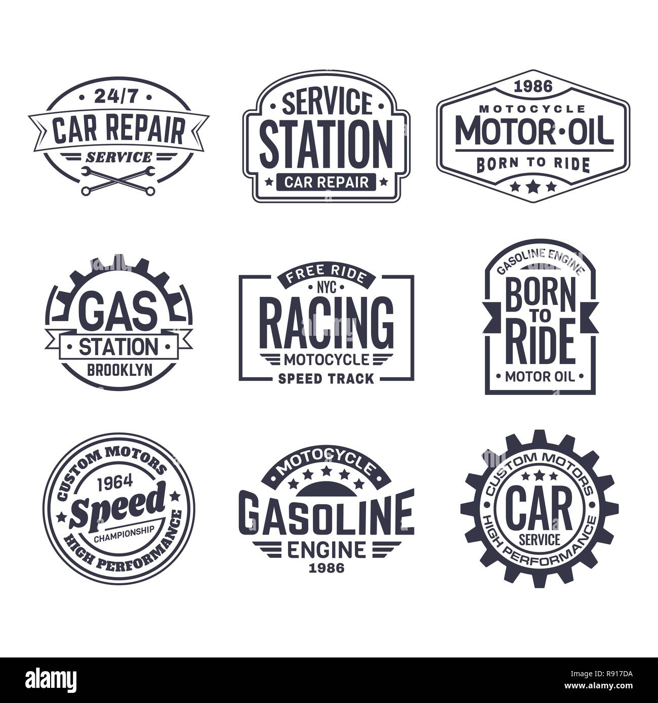 Labels for gas station - Stock Vector