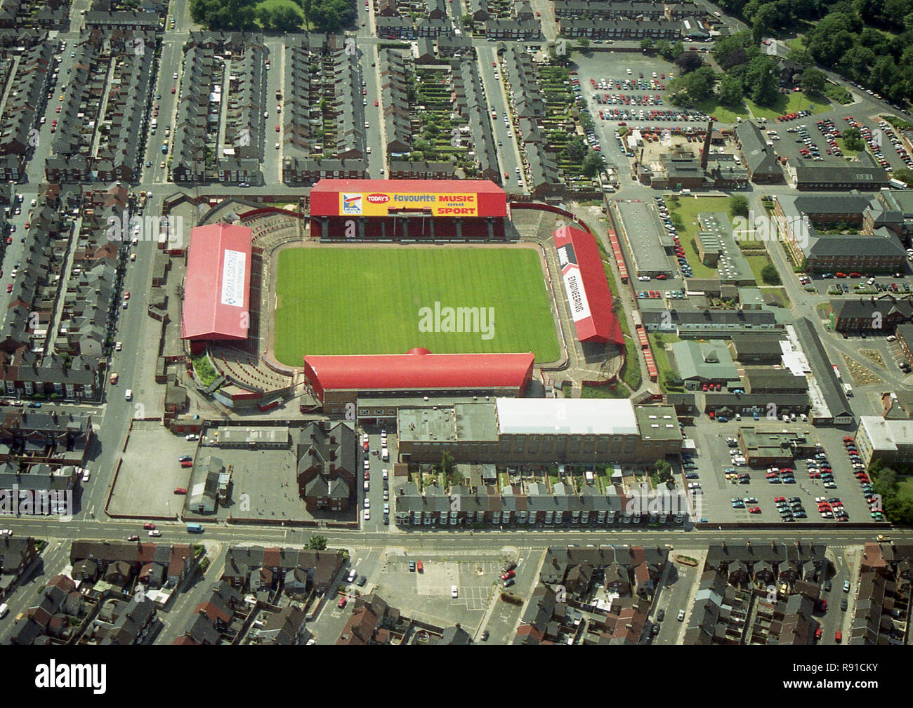 Aerial photo of the old Middlesbrough Football ground - Stock Image