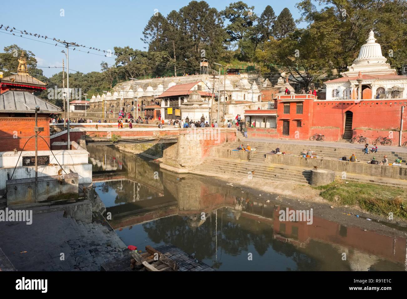 Pashupatinath, Nepal's most important Hindu temple, Kathmandu. - Stock Image